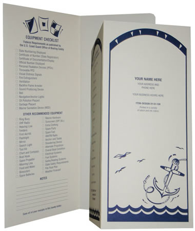 #100 Boat Marine Document Holder